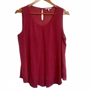 Juicy Couture Studded Burgundy Tank